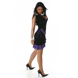 SEXY LATINO DRESS SALSA BLACK/PURPLE
