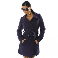 EXKLUSIVER MANTEL TRENCHCOAT LILA 38 ( L )