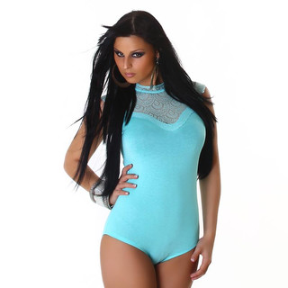 FEMININE BODY WITH LACE TURQUOISE