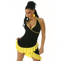 SEXY LATINO-DRESS SALSA BLACK/YELLOW