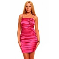 ELEGANT SATIN EVENING DRESS SHEATH DRESS WITH DRAPES...