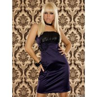 ELEGANT GLAMOUR EVENING DRESS WITH SEQUINS PURPLE UK 8 (S)
