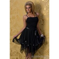 ELEGANT CHIFFON BALL GOWN COCKTAIL EVENING DRESS BLACK
