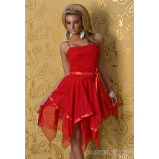 Abendkleid rot chiffon