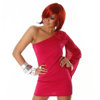 Elegant one-armed evening dress mini dress fuchsia UK...