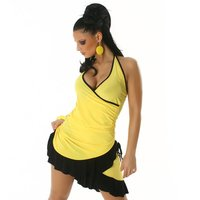 SEXY LATINO DRESS SALSA YELLOW/BLACK