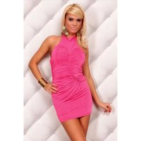 SEXY HALTERNECK MINIDRESS FUCHSIA UK 10/12 (M/L)