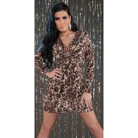 Sexy long-sleeved party dress mini dress with sequins...