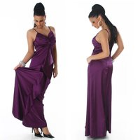 GLAMOUR GALA SATIN EVENING DRESS PURPLE