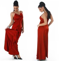 GLAMOUR GALA SATIN EVENING DRESS RED