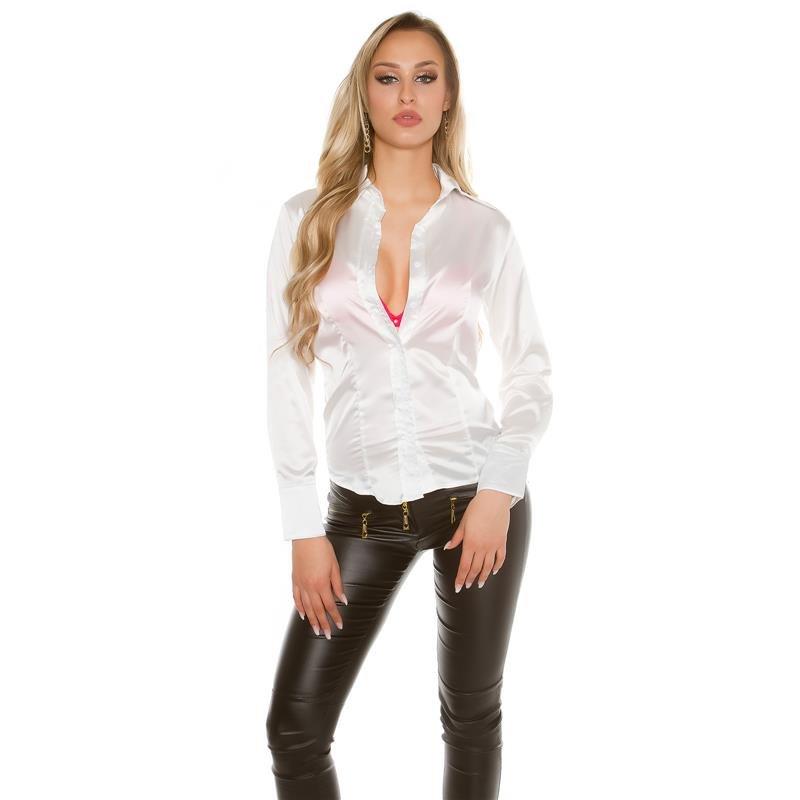 White Long Sleeved Blouse