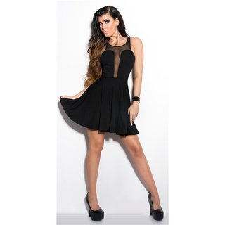 Sexy babydoll mini dress evening dress with tulle black