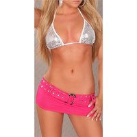 Super miniskirt with panty jeans look gogo clubwear...