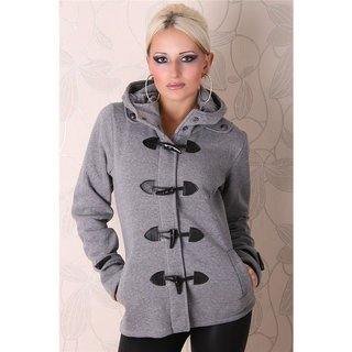 PRECIOUS FLEECE SHORT COAT JACKET GREY