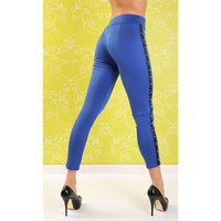 Sexy drainpipe pants cloth pants with rivets blue Onesize...