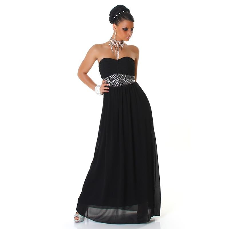 elegantes glamour abendkleid aus chiffon mit strass 79 95. Black Bedroom Furniture Sets. Home Design Ideas