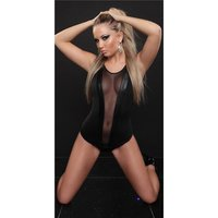 SEXY BODYSHIRT BODY WITH TULLE TRANSPARENT CLUBWEAR BLACK...