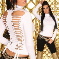 SEXY SHIRT WITH RIFTS CLUBWEAR WHITE