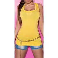 Sexy tanktop yellow Onesize (UK 8,10,12)