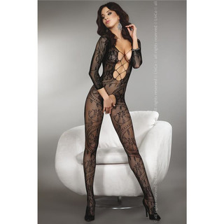 SEXY FISHNET BODYSTOCKING CATSUIT DESSOUS BLACK