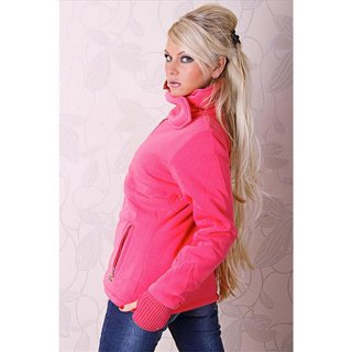 Warm and beautiful jacket with lining coral
