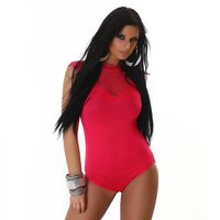 Feminine body with lace fuchsia Onesize (UK 8,10,12)