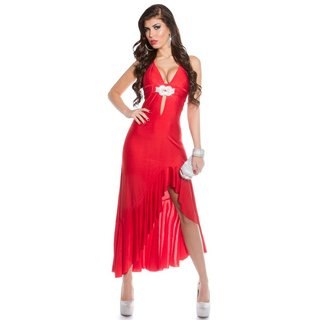 Exclusive Latino dress with bow red Onesize (UK 8,10,12)