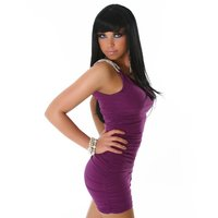 SEXY ONE-SHOULDER MINIDRESS PURPLE