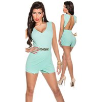 SEXY SLEEVELESS SKORT OVERALL PLAYSUIT BACKLESS MINT...