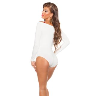 SEXY OFF-SHOULDER LANGARM BODYSHIRT CREME