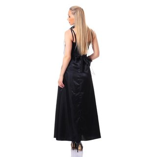GLAMOROUS GALA EVENING DRESS GOWN WITH STOLE BLACK
