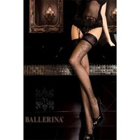 Elegant Ballerina glamour hold-up nylon stockings with...