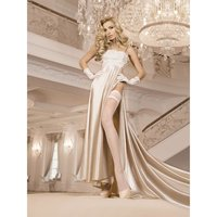 Sexy Ballerina glamour wedding stockings with lace top...