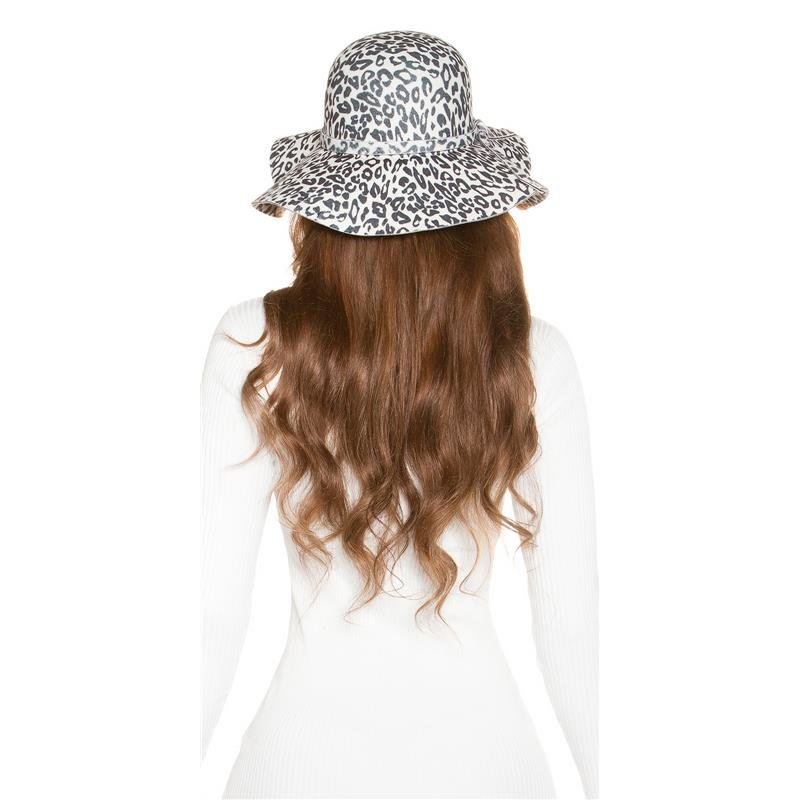a8157fb0e6ed7 TRENDY FLOPPY HAT IN LEOPARD-LOOK WITH RIBBON