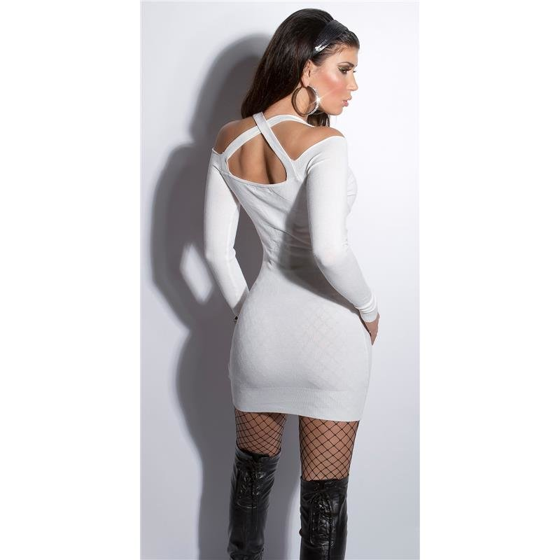 eaffc87c03c6d0 SEXY FINE-KNITTED MINIDRESS WITH RHINESTONES