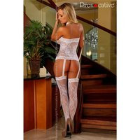 EROTIC MESH BODYSTOCKING CATSUIT CROTCHLESS LINGERIE WHITE