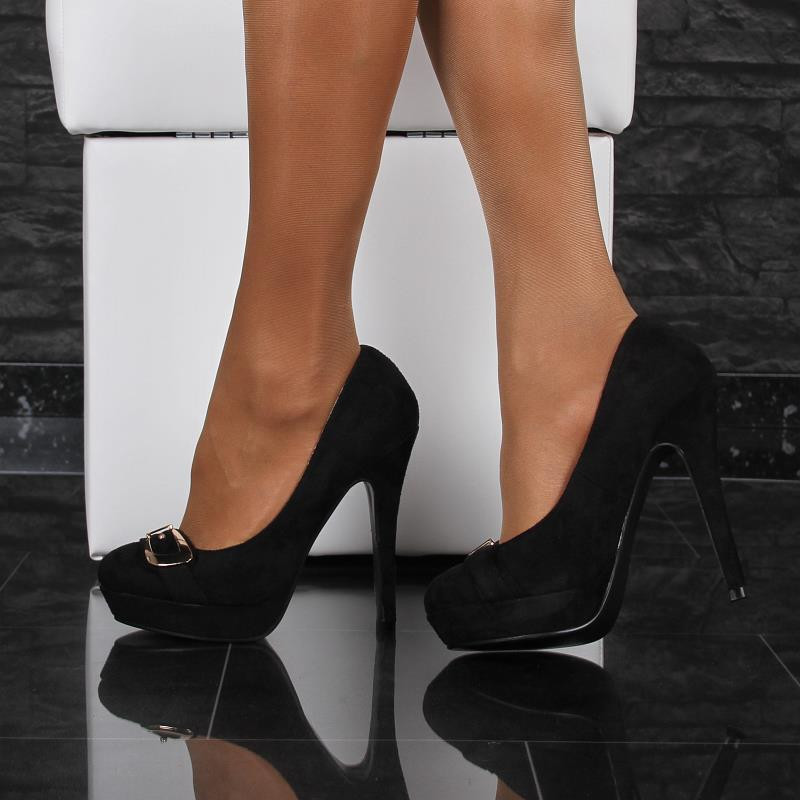 elegant high heel platforms 34 95. Black Bedroom Furniture Sets. Home Design Ideas
