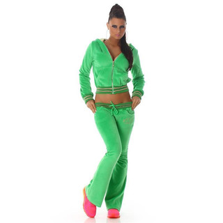NOBLE NIKKI LEISURE SUIT JOGGING SUIT TRACKSUIT WITH HOOD GREEN