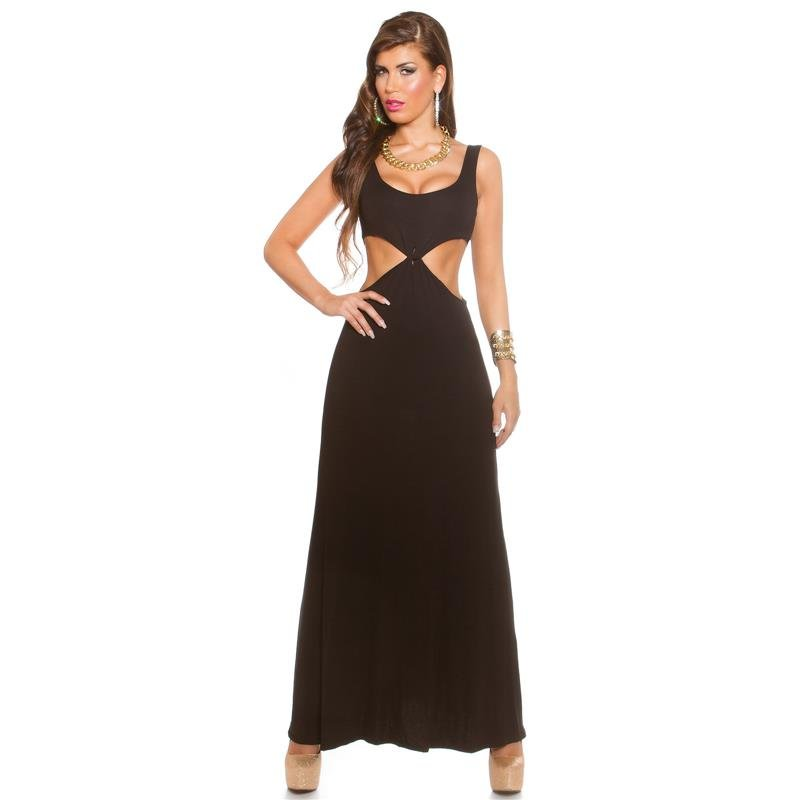 Figure-flattering Goddess Look Maxi Dress With Cut-outs