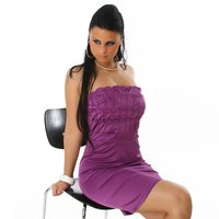 PRECIOUS SATIN EVENING DRESS PURPLE