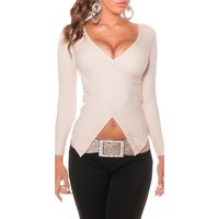 STYLISHER RIPPSTRICK PULLOVER IN WICKEL-OPTIK BEIGE