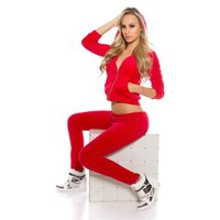 TRENDY NIKKI LEISURE SUIT JOGGING SUIT WITH HOOD RED