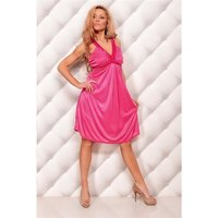 ELEGANT STRAP DRESS EVENING DRESS FUCHSIA