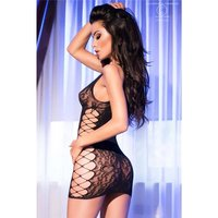 SEXY COARSE-MESHED STRIPPER MINIDRESS CLUBBING BLACK...