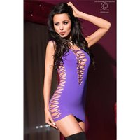 SEXY STRETCH CLUB-MINIKLEID GOGO CLUBWEAR LILA