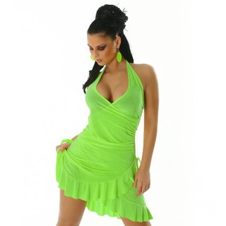 Sexy Latino dress salsa green