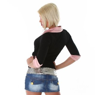 PRECIOUS TWO-IN-ONE SWEATER BLACK/PINK