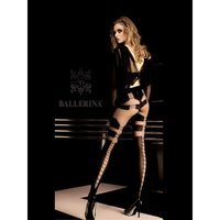 Exclusive Ballerina nylon pantyhose with lace-up pattern...