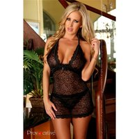 SÜSSES BABYDOLL NEGLIGEE AUS SPITZE DESSOUS INKL. STRING...