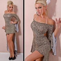 Sexy Cocktail-Kleid Club Gogo Leopard-Optik